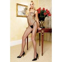 Bodystocking de red ancha
